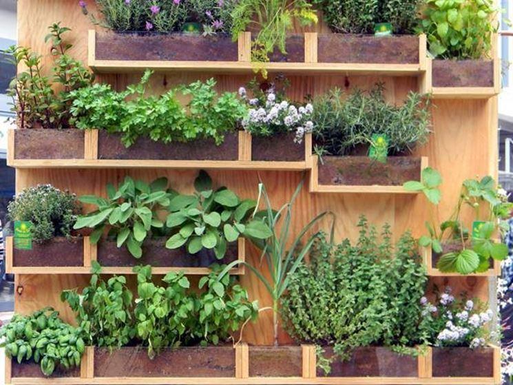 orto verticale nel terrazzo