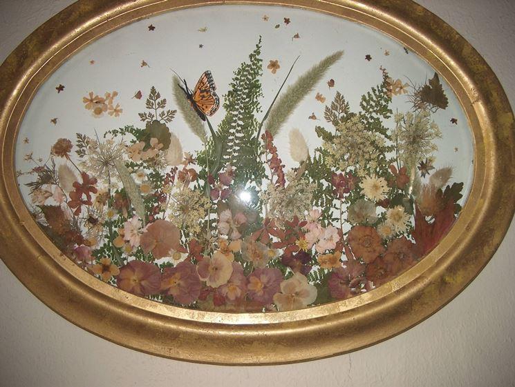 creazione con fiori essiccati