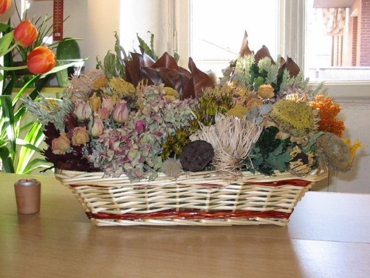Composizioni fiori secchi particolari