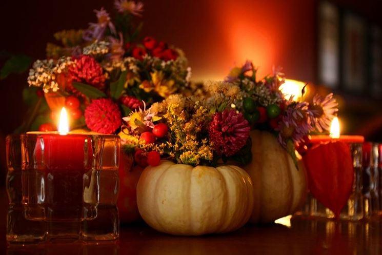 Una bella composizione per la tavola d'autunno
