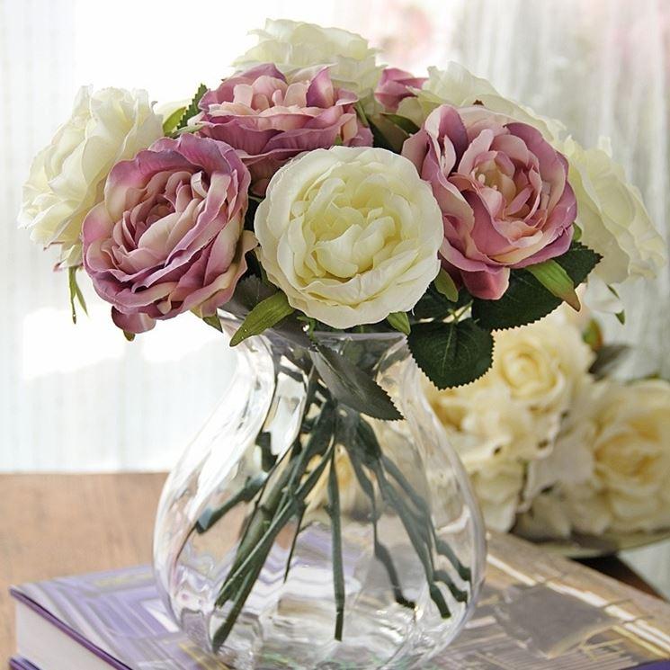 Vaso fiori finti