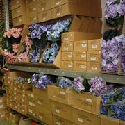 Un magazzino di fiori artificiali