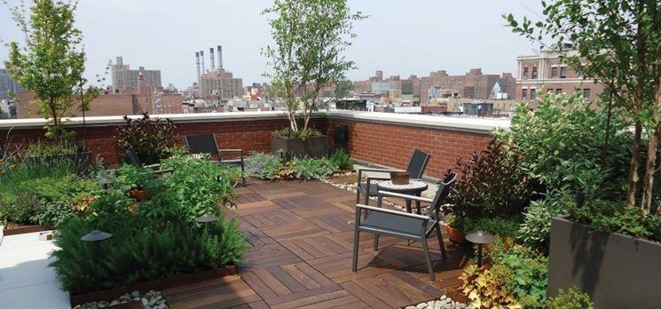 Giardino in terrazzo giardino in terrazzo come - Arredi per giardini e terrazzi ...