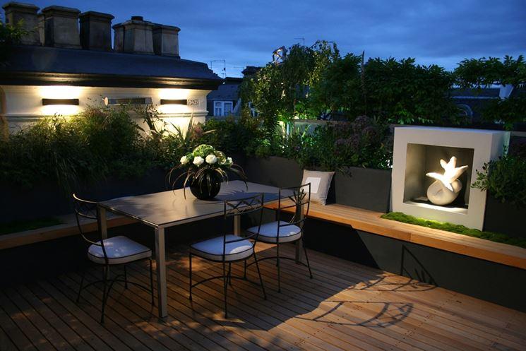 giardino terrazza moderno