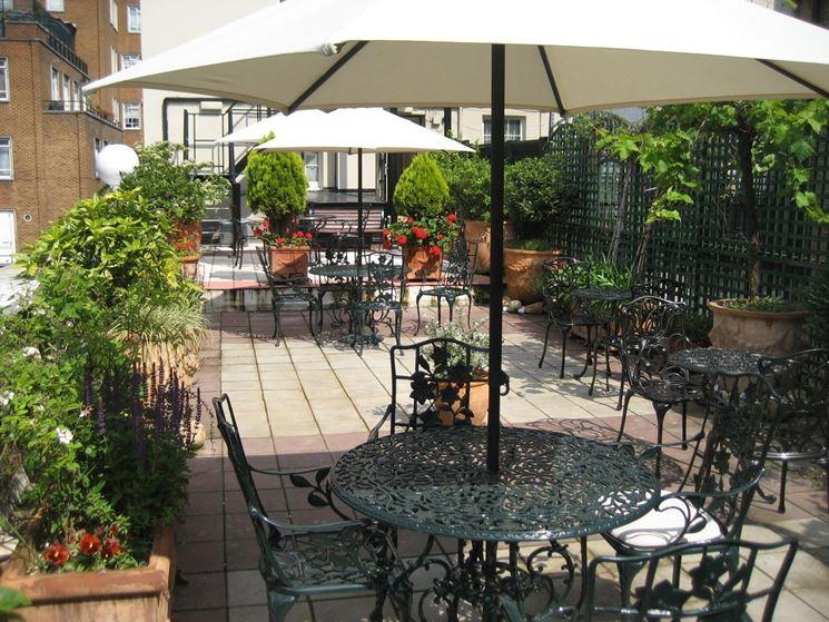 giardino terrazza classico