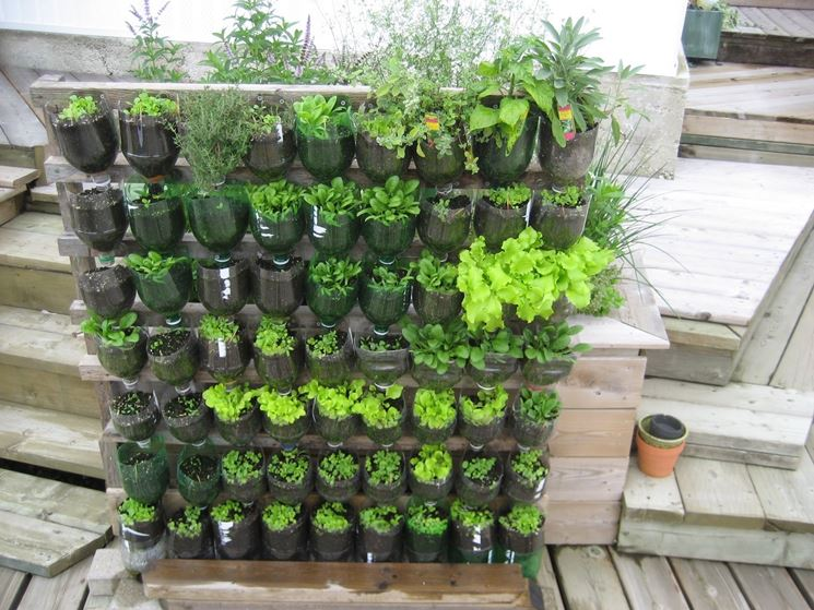 Orto verticale giardino in terrazzo come realizzare un - Giardino verticale fai da te ...